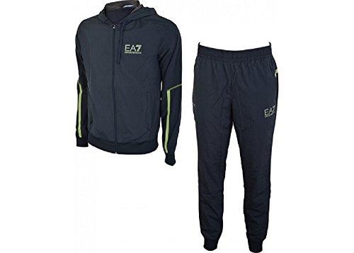 Emporio Armani EA7 tuta uomo fashion completo felpa pantaloni blu EU M (UK 38) 6XPV03 PN36Z 1578