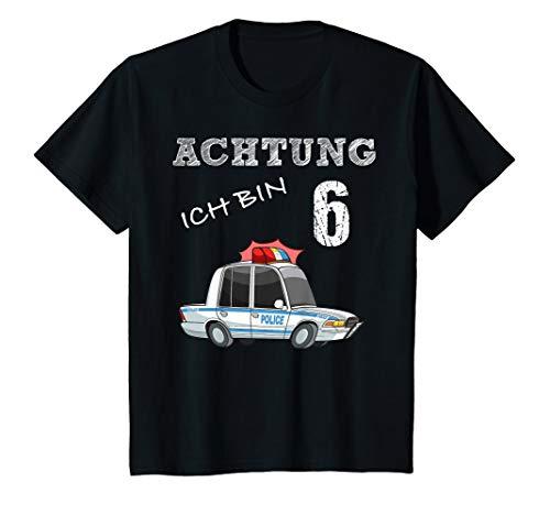 Polizei Mädchen T-shirt (Kinder Kinder Polizei T-Shirt 6. Geburtstag Jungen 6 Jahre Shirt)