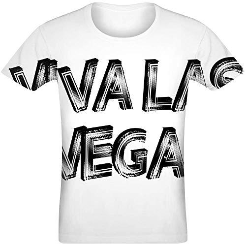 Viva Las Vegas Sublimated T-Shirt Jersey Top for Men & Women All Over Print Unisex Clothing Large