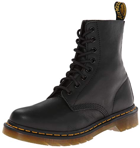 Dr. Martens PASCAL Virginia BLACK, Damen Combat Boots, Schwarz (Black), 38 EU (5 Damen UK)