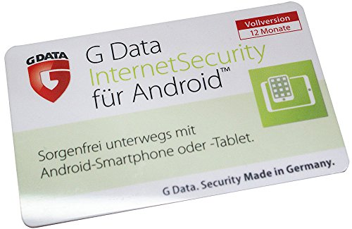 G DATA Internet Security für Android 1-Jahres-Lizenz (ProductKeyCard)