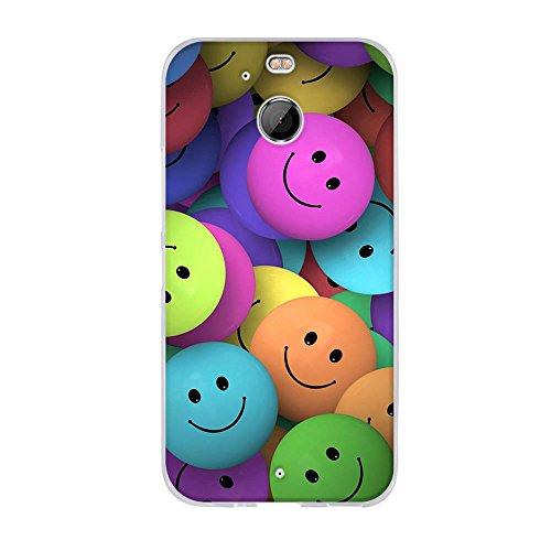 Fubaoda Hülle für HTC 10 EVO/HTC Bolt, Lustige Zeichnung Design[Smiley-Gesicht],Langlebige Ultra Dünn Schutzhülle- Staub und Scratch- Stoßfest TPU Handyhülle für HTC 10 EVO/HTC Bolt(5.5