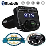 Boka RetailsTM Wireless Bluetooth FM Transmitter Kit with QC 3.0 in-Car Radio Adapter