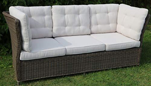 Destiny 3er Loungesofa Palma Vintage braun Lounge Sofa Bank Gartensofa