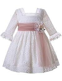 1031a2088 Ju petitpop Lajinirr Vestido de Encaje de Ganchillo con Banda de Encaje  Colorete