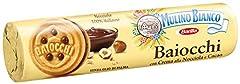 Idea Regalo - Mulino Bianco Biscotti Baiocchi con Crema alla Nocciola e Cacao per Colazione e Snack Dolce per la Merenda - 168 gr