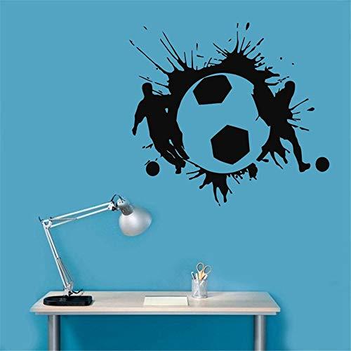 Fußball Aufkleber Sport Fußball Aufkleber Helme Kinderzimmer Name Poster Vinyl Wandtattoos Fußball Aufkleber gelb 45x49cm -