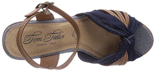 Tom Tailor Tom Tailor Damenschuhe, Sandali donna Blu (Blu navy)