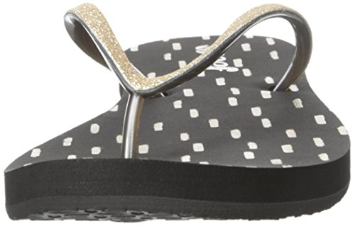 Reef - Stargazer Prints, Flip-flop Donna Nero (Black/Gold)