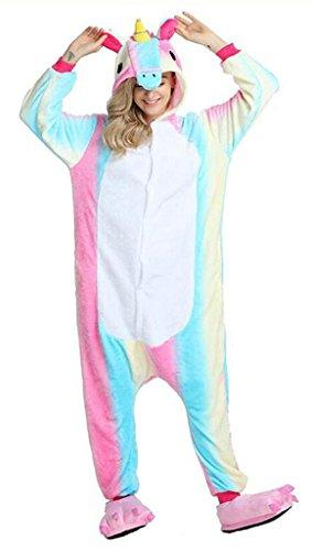 Auspicious beginning Erwachsene Bequeme Einhorn Nachtwäsche Tier Pyjamas Halloween (Braut Toten Kostüme Halloween Billig)