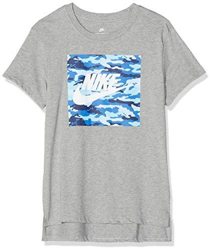 Nike Mädchen Sportswear Camo T-Shirt, Dark Grey Heather, L