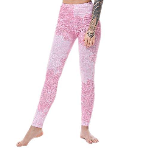 Sexy Pants Taille hoch halten Sie Gl?nzend 3D-Druck Rainbow Star Cat Donut leggins Mandala eine Gr??e