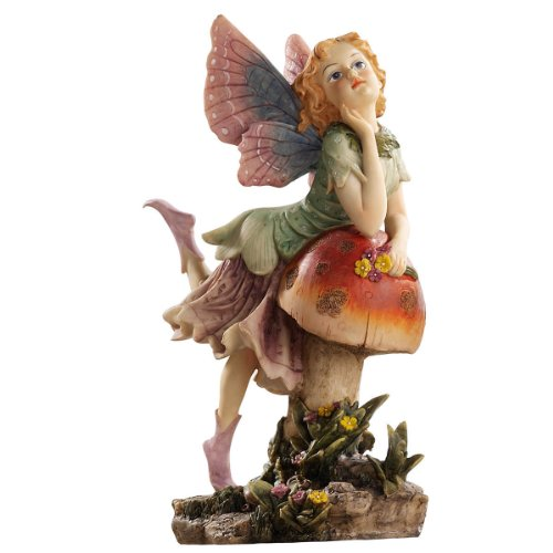 Design Toscano by Blagdon EU4932 - Decorative figure for garden (resin), mushroom and fairy design
