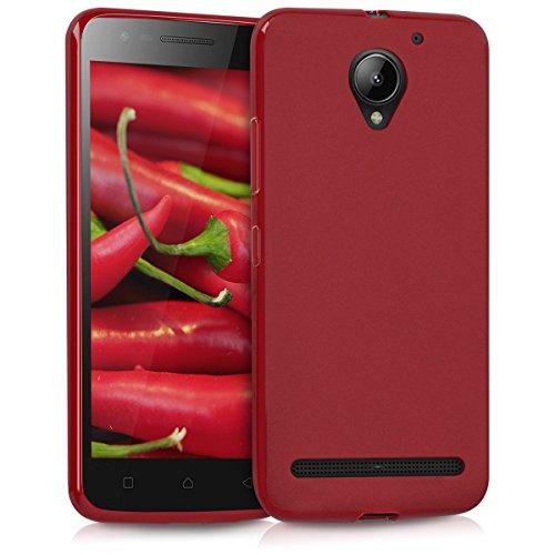 kwmobile Lenovo C2 Hülle - Handyhülle für Lenovo C2 - Handy Case in Rot matt