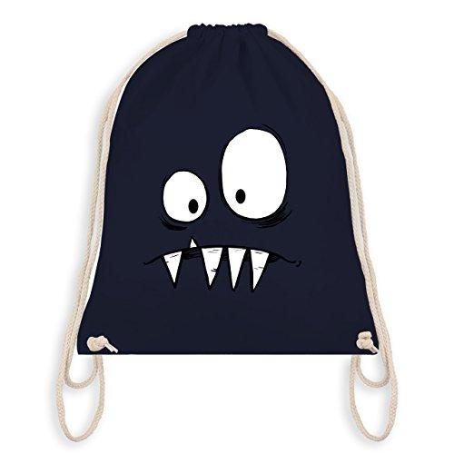 Shirtracer Karneval & Fasching - Monster Gesicht Kostüm 2 - Unisize - Navy Blau - WM110 - Turnbeutel I Gym Bag (Bestien Kostüme)