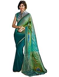 Rajeshwar Fashion Women's Georgette Georgette Saree (7228 Shree F Sans_Multi-Coloured)