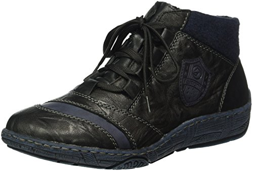 Remonte D3871, Sneaker a Collo Alto Donna Nero (Schwarz/ozean/schwarz/navy)