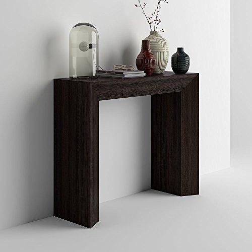 Mobilifiver giuditta consolle ingresso, legno, rovere moro, 90x30x75 cm