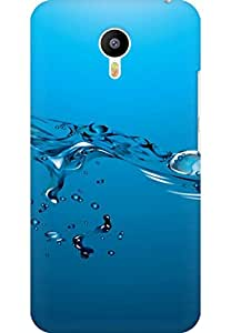 AMEZ designer printed 3d premium high quality back case cover for Meizu M2 Note (water)