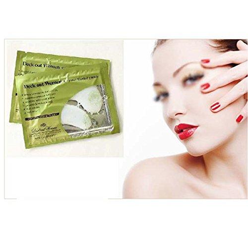 Lot de 5 pochoirs de collagène hydratant intense et anti-rides/anti-cernes pour le contour des yeux Pour femme