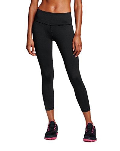 dh Garment Damen 3/4 Sport Leggings Capris Yoga Pants kurz Training Tights mit Versteckte Tasche,Blickdicht(Größe M) (Baumwoll-spandex-sport-pant)