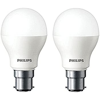 Incroyable Philips Base B22 7 Watt LED Bulb (Pack Of 2, Cool Day Light
