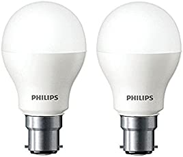 Philips Base B22 7-Watt LED Bulb (Pack of 2, Cool Day Light)