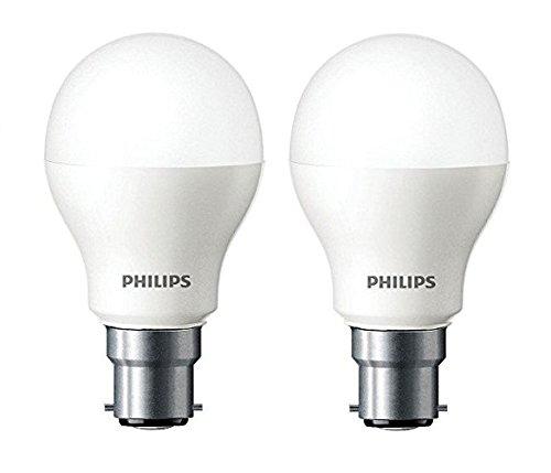 Philips Base B22 7-Watt LED Bulb (Cool Day Light and Pack of 2)