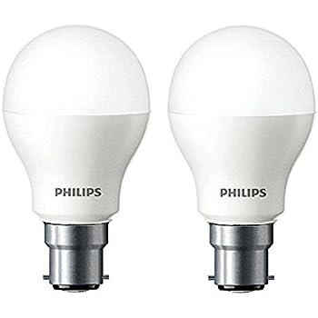 Philips Base B22 7-Watt LED Bulb (Cool Day Light, Pack of 2)