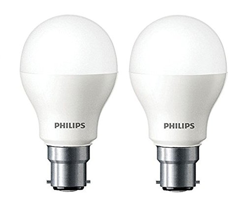 Philips Base B22 7-Watt LED Bulb (Cool Day Light, Pack of 2)
