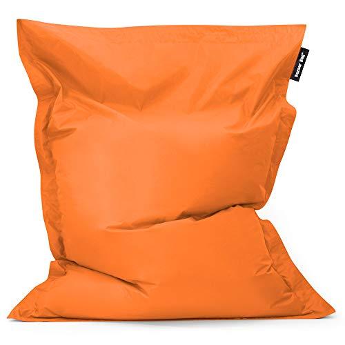 Bean Bag Bazaar Bazaar Bag - Naranja, 180cm x 140cm, Puf Gigante para Interiores y Exteriores – Puff Enorme, Ideal para usar en el Hogar y el Jardín