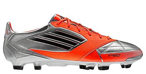 V21435|Adidas F50 adizero TRX FG LEA Silver|40 UK 6,5 (Adidas Adizero Fußball)