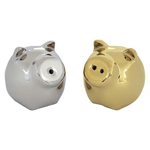 BIA Pig Salt & Pepper Shaker Gold & Platin Gold Salt Shaker