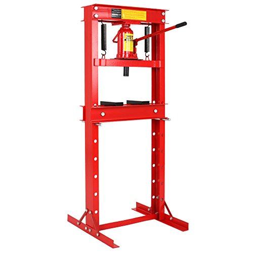 Werkstattpresse   max 20T, inkl. Hydraulikpumpe und 2x Druckplatten   Hydraulikpresse, Lagerpresse, Druckplatten, Dornpresse, Rahmenpresse