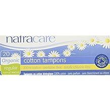 Natracare Orgánica Todos los algodón non-applicator tampones Regular 12 x paquetes de ...