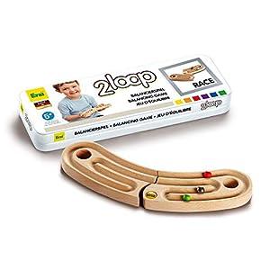 Erzi Balancierspiel 2Loop Race Equilibrio Coordinación Motor Skills Equilibrio