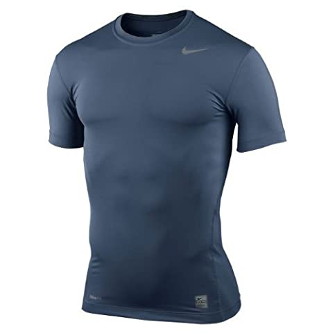 Nike Pro Combat Core Compression Maillot de compression à manches courtes Taille XL Bleu