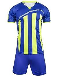 da180c1f2fa75 LQZQSP Equipo De Fútbol Masculino Jerseys De Seguridad con Rayas Kit  Deportivo Juegos De Jersey De Fútbol Uniformes Camisas…