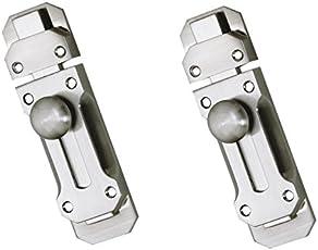 Truphe Stainless Steel Door Latch 2 Pieces (Silver)