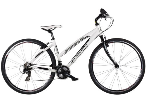 Lombardo Women's 700C Wheelerpeak 100 21-Speed Alloy Fitness Cross – White, 17 Inch