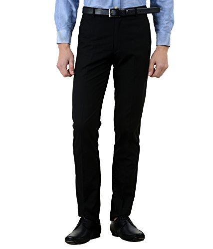 American-Elm Black Basic Formal Trouser For Men (30)