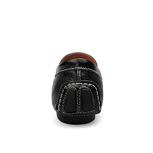 Shenn Herren Erarbeiten Prägung Entwurf Leder Halbschuhe Herren Fahren Schuhe 9928 Schwarz