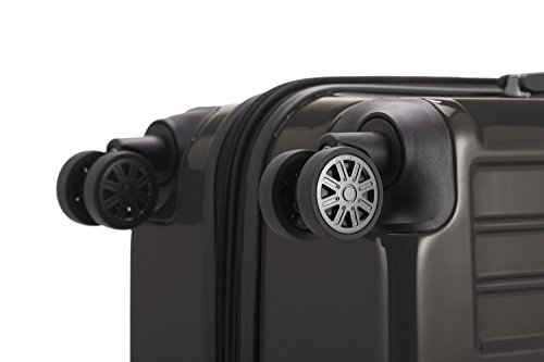 HAUPTSTADTKOFFER® Reisekoffer · Hartschalenkoffer · TSA Zahlenschloss + GEPÄCKGURT (74 Liter (Schwarz TSA)) 90 Liter (Graphit)