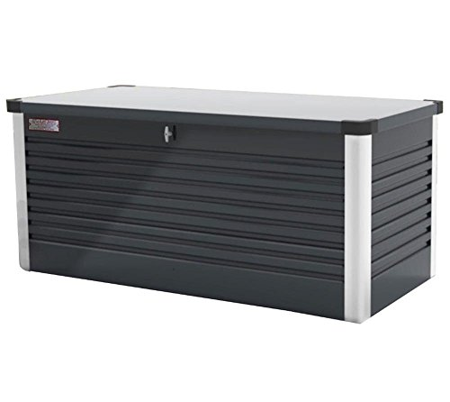 Trimetals Kissenbox, Gartenbox, Universalbox 850l Anthrazit // Universalbox und Gartentruhe 187x79x73cm (LxBxH)