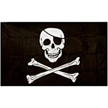 Jolly Roger - Bandera pirata (calavera con parche) oferta especial 152.4cm x 91.44