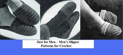 Nur für Männer – gehäkelte Muster in der Herren Slipper