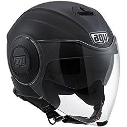 AGV Fluid E2205 - Casco para moto, Negro Mate, M