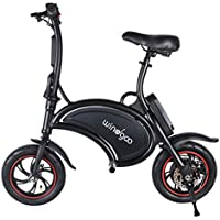 "Windgoo Bicicleta eléctrica Plegable Ruedas de 12"",Batería de Litio de 4400-36v,Ebike para Adulto (B15-Black)"