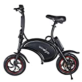 Windgoo Electric Scooter 12 inch 36V Folding E-bike with 6.0Ah Lithium Battery, City