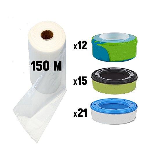 Preisvergleich Produktbild 150 m Nachfüllfolie für Sangenic Windeltwister Tommee Tippee, Angelcare und Litter Locker